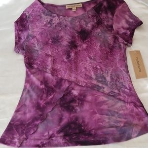 Notations Tie Dye Detailed Design Top - Small